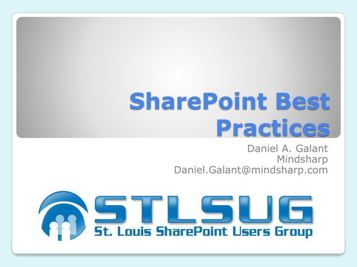 sharepoint best practices n.