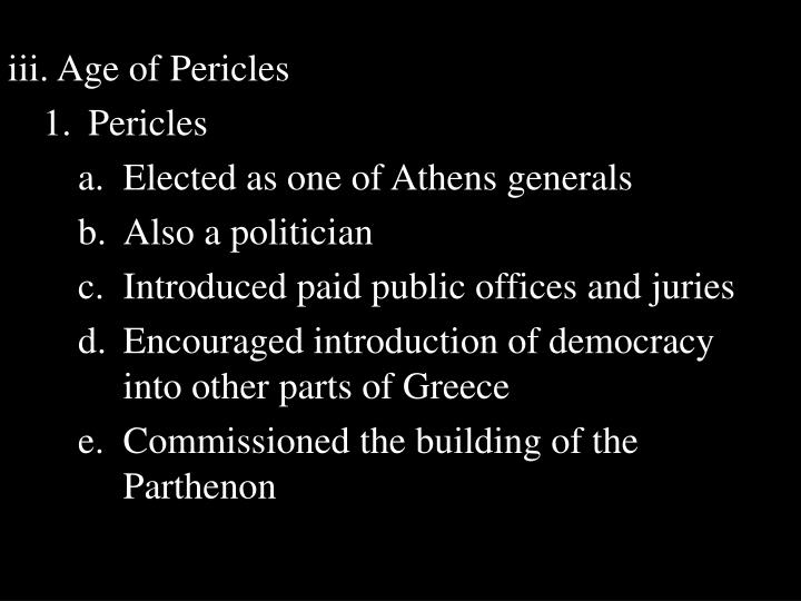 iii. Age of Pericles
