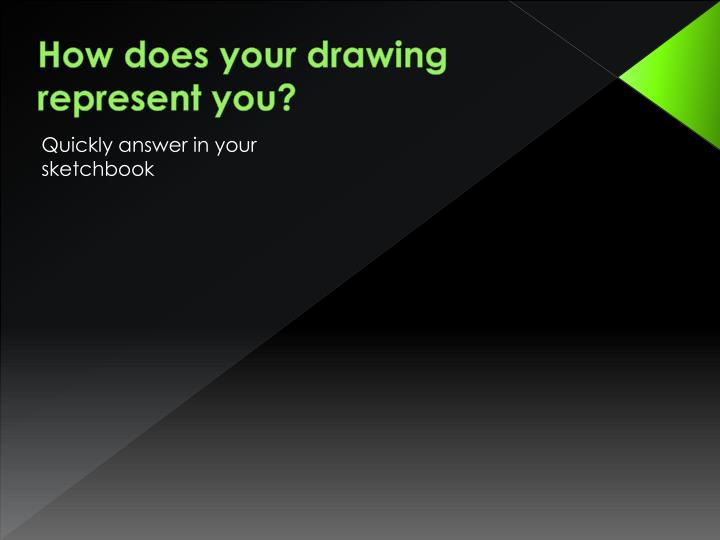 How does your drawing represent you?