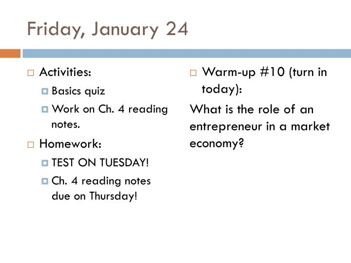 Friday, January 24