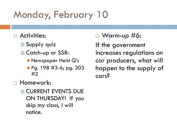 Monday, February 10