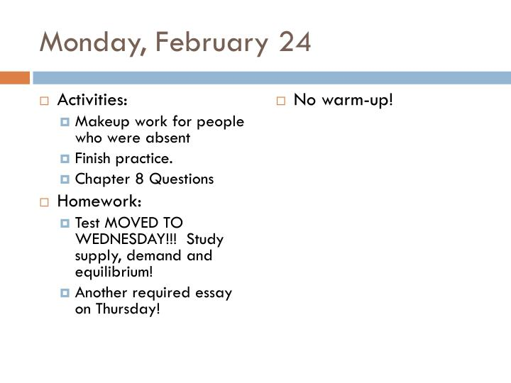 Monday, February 24