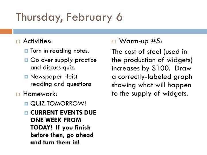 Thursday, February 6