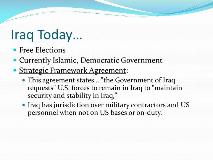 Iraq Today…
