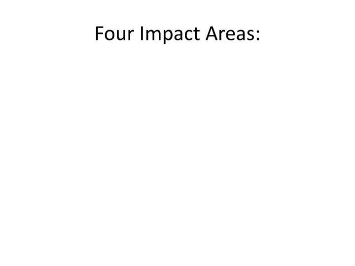 Four Impact Areas: