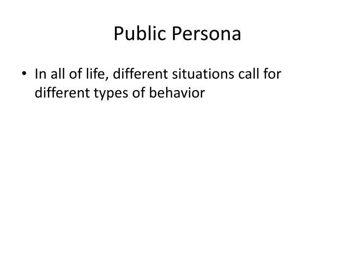 Public Persona