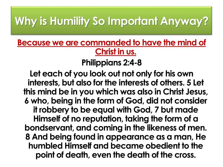 Why is Humility So Important Anyway?