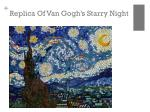 replica of van gogh s starry night