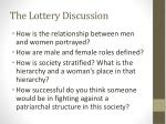 the lottery discussion