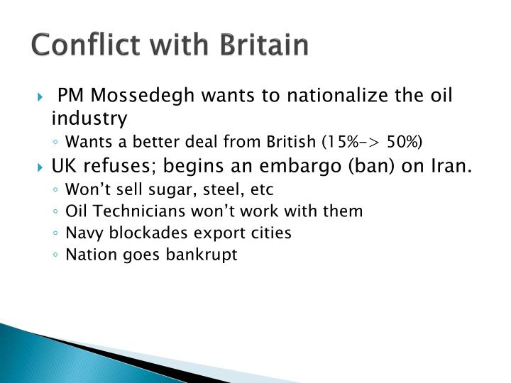 Conflict with Britain