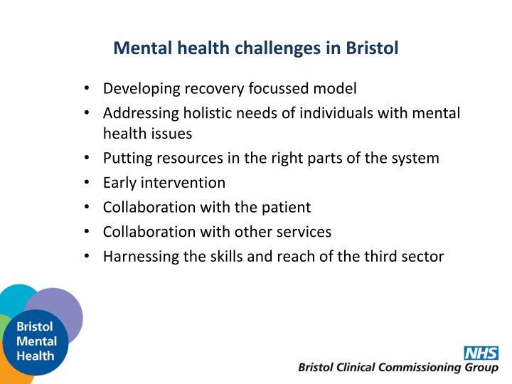 Mental health challenges in Bristol