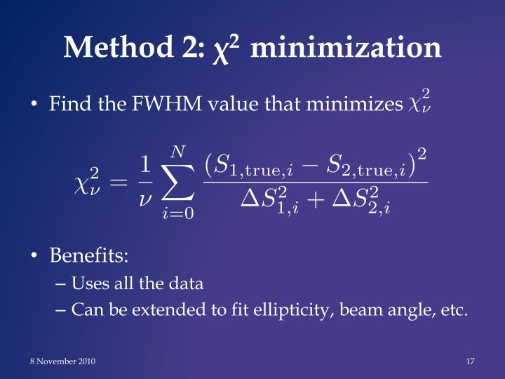 Method 2: χ
