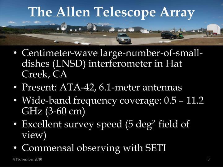 The allen telescope array
