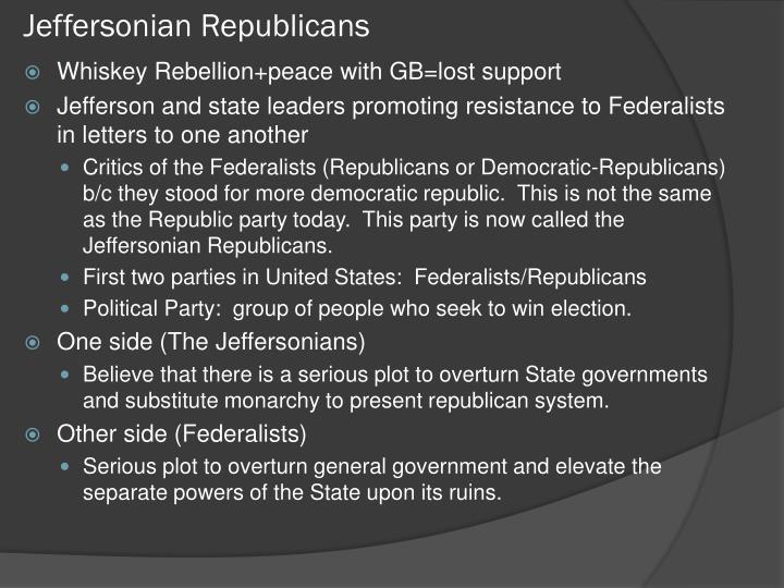 Jeffersonian Republicans