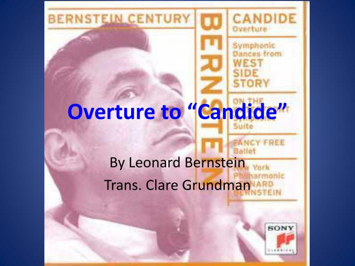 overture to candide n.