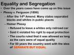 equality and segregation