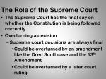 the role of the supreme court