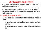 air masses and fronts1