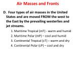 air masses and fronts2