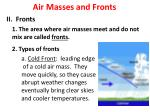 air masses and fronts3