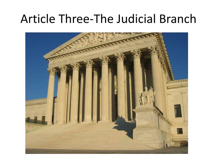 article three the judicial branch