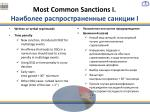 most common sanctions i i