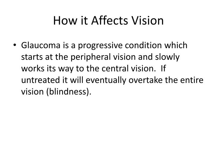 How it affects vision