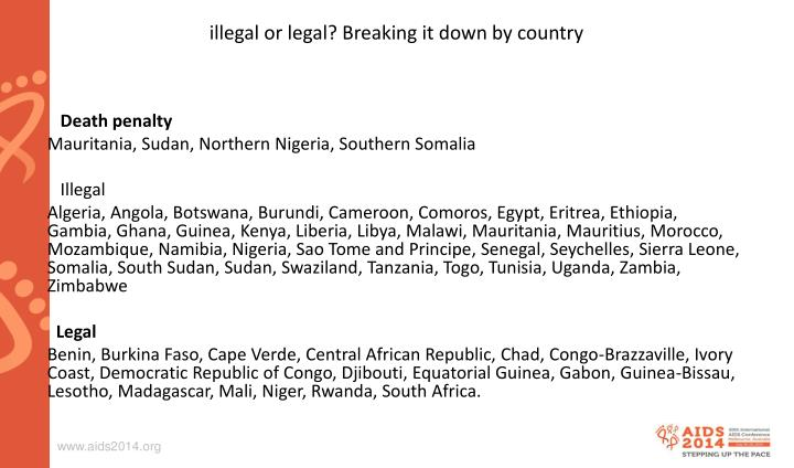 illegal or legal? Breaking it down by country
