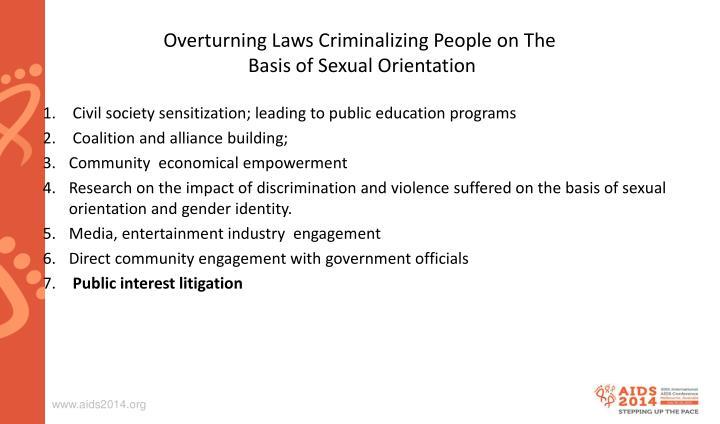 Overturning Laws Criminalizing People on The