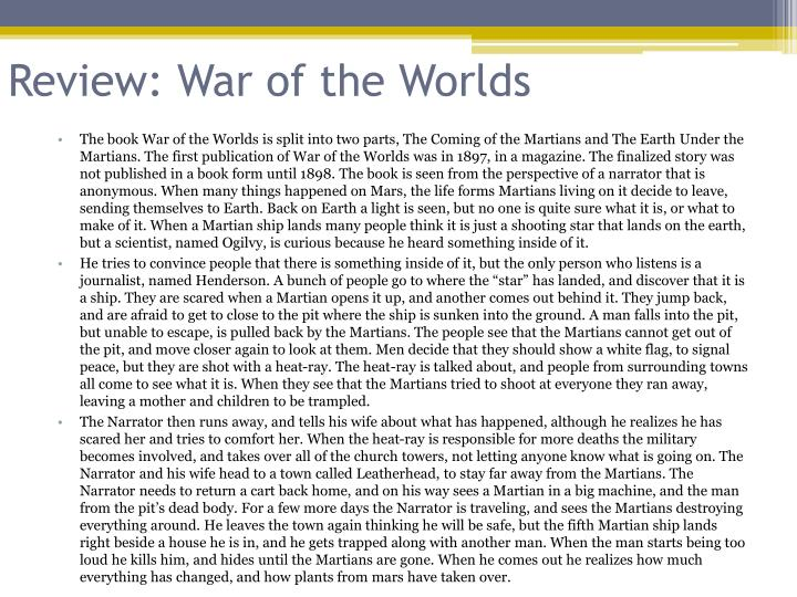 Review: War of the Worlds