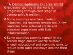 a demographically diverse world