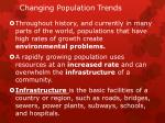 changing population trends1