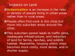 impacts on land1