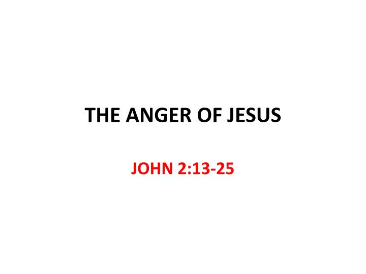 the anger of jesus n.