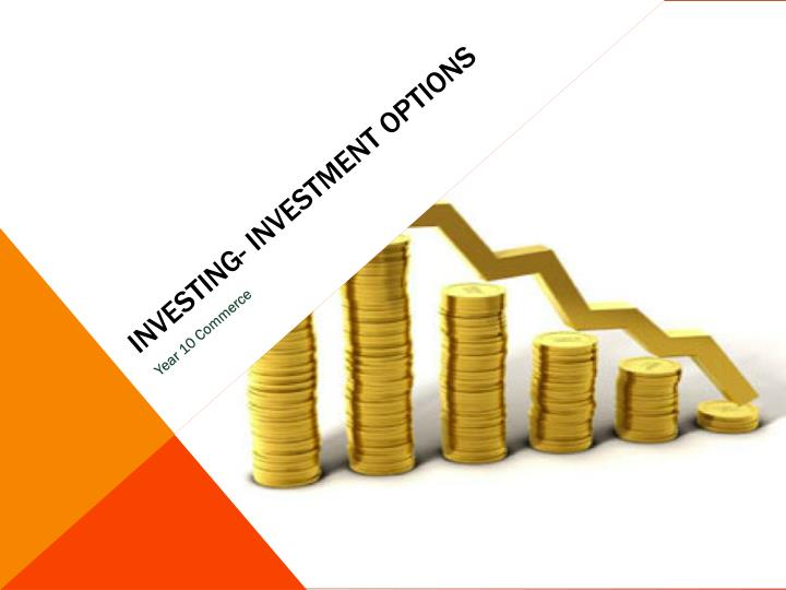 Investing investment options