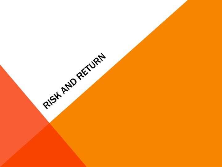 risk and