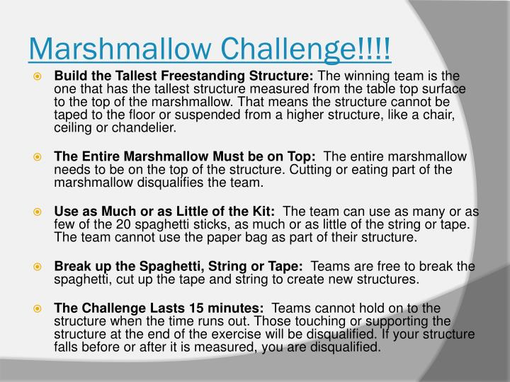 marshmallow challenge instructions pdf