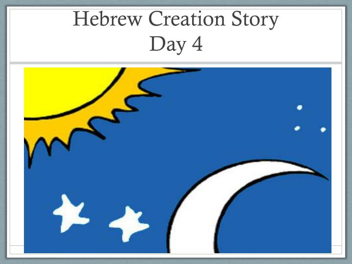 Hebrew Creation Story