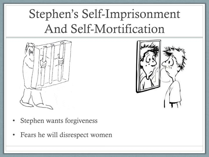 Stephen's Self-Imprisonment And Self-Mortification
