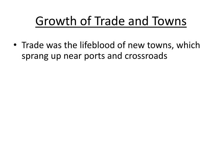 Growth of Trade and Towns