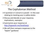 the cephalonian method