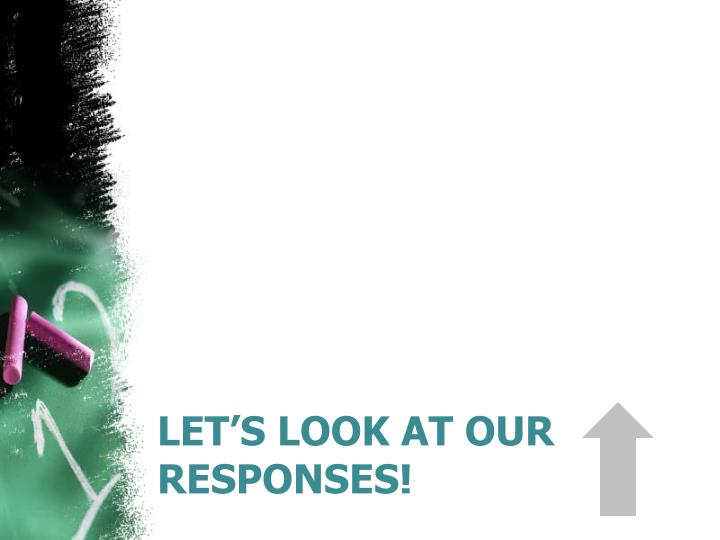 Let's look at our responses!