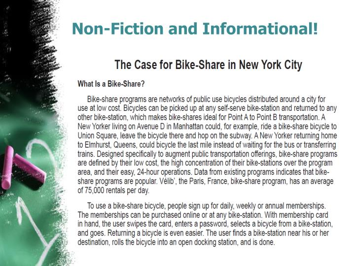 Non-Fiction and Informational!
