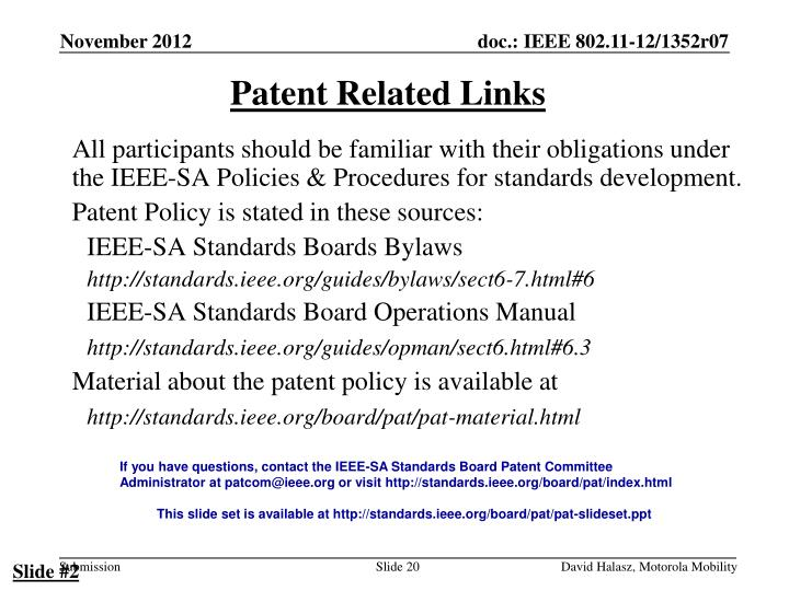Patent Related Links