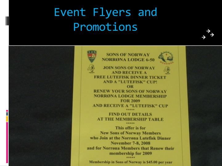 Event Flyers and Promotions