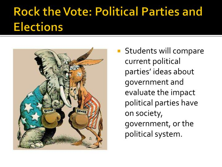 rock the vote political parties and elections n.