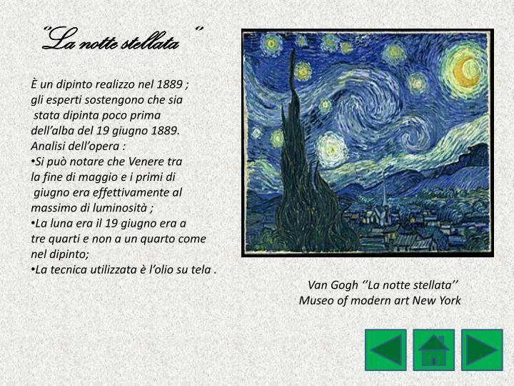 ''La notte stellata ''
