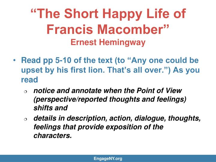 a review of hemingways the short happy life of francis macomber Download the short happy life of francis macomber by ernest hemingway 1970 pdf book epub  short happy life of francis macomber reviews  short happy life of .