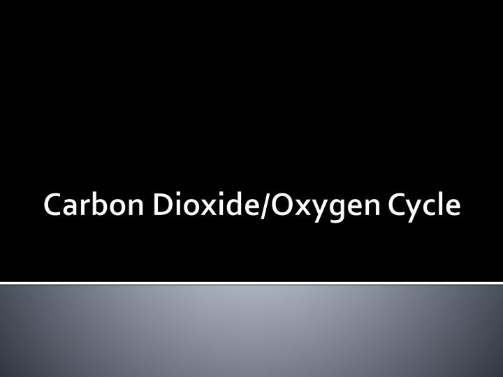 carbon dioxide oxygen cycle n.