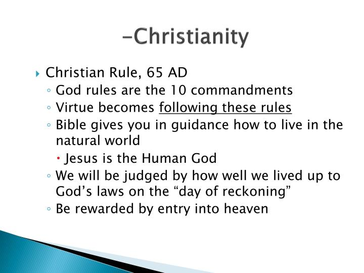 -Christianity